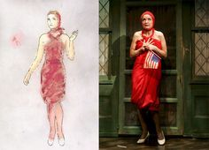 "William Ivey Long Sketches | William Ivey Long's costume sketch for the ""Grey Gardens"" Broadway ..."