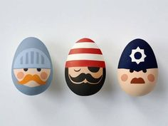 People-themed Easter eggs are cute and fun.