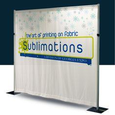 custom exhibition backdrop dye sublimated