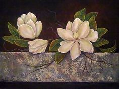 Tutorial: Painting Magnolias In Acrylic -from CFJernigan on Etsy $6.99