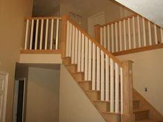 wood stair railings - Google Search