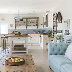 Living room | Take a tour of this coastal barn conversion in Cornwall | housetohome.co.uk