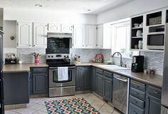 Love the colors of cabinets and backsplash