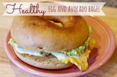 Healthy Egg and Avocado Bagel #recipe