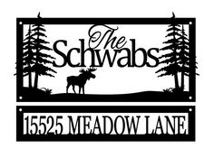Custom Family Name and Address Metal Signs by RefinedInspirations
