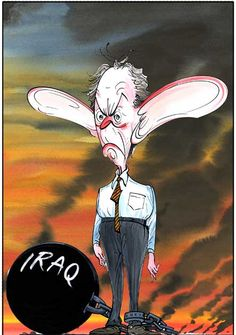 gerald scarfe tony blair - ball and chain