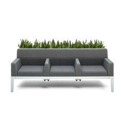 3-seater sofa / for waiting rooms / design Regard Nurture - Steelcase