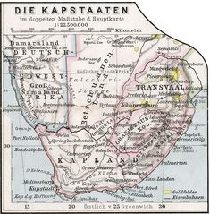 Old South Africa Map