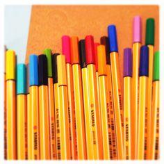 Stabilo pens!