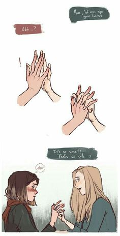 Smol hands by lesly-oh on DeviantArt Cute Lesbian Couples, Lesbian Art, Gay Art, Character Inspiration, Character Art, Life Is Strange, Cute Comics, Anime Comics, Drawing Reference