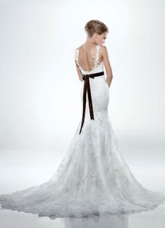 Trumpet Wedding Dress with Sash via Dress 2014