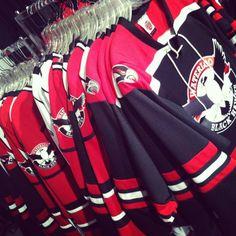 Waterloo Black Hawks jerseys