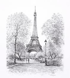 Mural Paris - material photo mural on non-woven lengthlength width cmheight 260 cmwidth cm Eiffel Tower Drawing, Eiffel Tower Art, Paris Wallpaper, Photo Wallpaper, Architecture Drawing Sketchbooks, Architecture Art, Paris Drawing, Paris Painting, Drawing Wallpaper