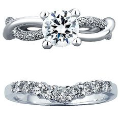 Brides Magazine: How to Pick a Wedding Band That Works With Your Engagement Ring// Uniquely-shaped engagement rings have seen a surge in popularity in recent years. Choose a band that complements the curves of your engagement ring so that the pair will lay flush on your finger.