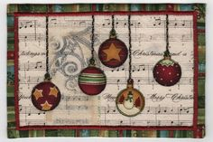 Christmas Fabric Postcard by freezeframe03, via Flickr