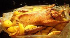 Утка с картофелем в рукаве