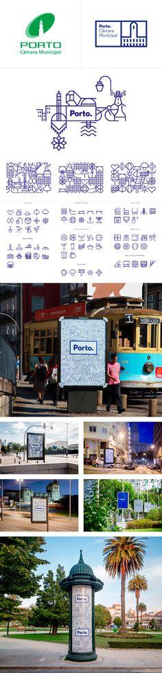 Identité visuelle ville de Porto par White Studio, un système graphique cohérent.