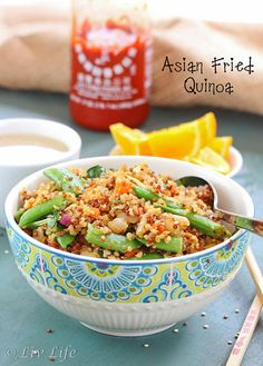 Asian Fried Quinoa... Beyond amazing!!  One of the best quinoa dishes I've ever tasted.  #familyfavorite #quinoa @livlifetoo