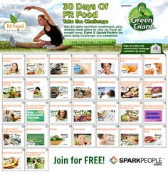 Join the 30-Day 'Fit Food' Challenge! Get healthy, simple meal plans, printable shopping lists and nutrition tips for a full month of healthy eating! This is the perfect challenge to start on October 1! | via @SparkPeople #diet #recipe #eat