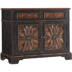 Hooker Furniture Grandover Two-Door Accent Chest with Two Drop-Front Drawers - Barrow Fine Furniture - Occasional Cabinet Mobile, Dothan, AL & Pensacola, FL