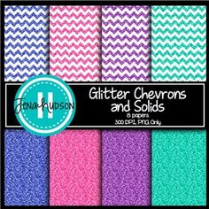 **Freebie** Glitter Chevrons and Solid Digital Paper