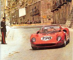 The winning Ferrari 275 P2 of Vaccarella/Bandini, Targa Florio 1965
