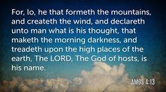 Daily Bible Verse Amos 4:13