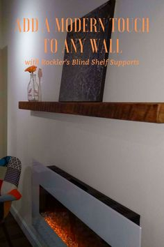 Easily create shelves that appear to float on the wall—includes enough supports for up to 5 shelves! Beginner Woodworking Projects, Diy Woodworking, Blind Shelf Supports, Workshop Organization, Weekend Projects, Wood Working For Beginners, Fireplace Mantle, Home Improvement Projects, Floating Shelves
