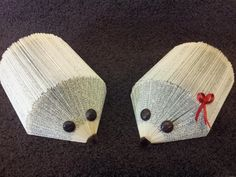 hedgehogs made from books