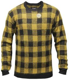 Brixton Ltd Regulator Reversible Crewneck Sweatshirt Yellow Black