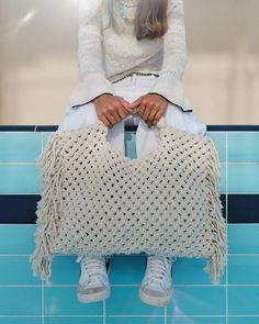 Summer Handbags, Summer Purses, Summer Bags, Organic Cotton Yarn, Organic Baby, Crochet Belt, Neon Bag, Market Bag, Macrame Bag