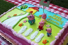Peppa Pig birthday party Pig Birthday, Birthday Ideas, Peppa Pig, Reign, Turning, Cake, Party, Desserts, Food