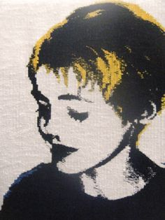 Hand woven tapestry portrait from emmajowebster.com