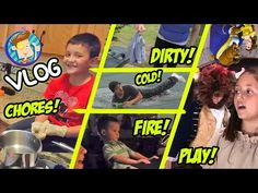 Winter Pool Roll / Dirty Lizard Underwear / Chores & Traptanium / School Play (Funnel Vision Vlog) - YouTube