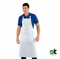 GREMBIULE PETTORINA BIG BIANCO COTONE ISACCO - cucina ristorante over size  cuoco 5ea6b0a2ab1