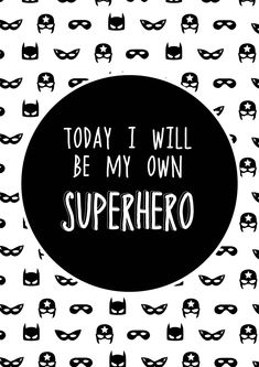 'Today I Will Be My Own Superhero' removable round wall decal made from high quality, eco-friendly, woven, non-toxic fabric style decal that has a similar feel to canvas. Easy to apply, repositionable, reusable and will not leave a sticky residue. A3 poster decal measures 29.7 x 42cm. Made in Australia by Wondermade.
