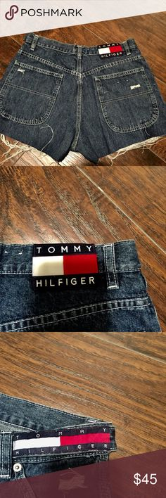 Tommy Hilfiger Big Logo Distressed Shorts 🤧💗 these are s'cute bruh 😩 these photos are really not doing these shorts justice 😭😩 i self distressed everything and even sewed the Tommy Hilfiger strip in the front  these are to look similar to the first photo   [ THE FIRST PHOTO IS NOT THE SAME SHORTS BUT THATS HOW THEY LOOK ON ] feel free to make an offer on these 💗 Tommy Hilfiger Jeans