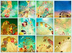Circus photos, carnival, childs room summer, nursery, baby, green, blue - Wheels 12 5x5 prints