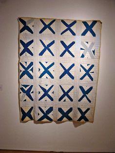 """Strip Quilt in """"X"""" Pattern, Texas, 1930s - 1940s."""