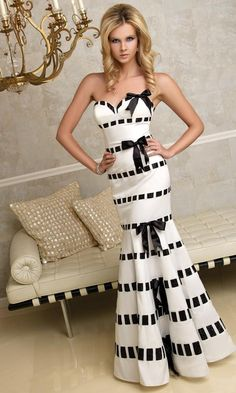 55112209f9a Black and white formal gown Terani Prom dress 95230