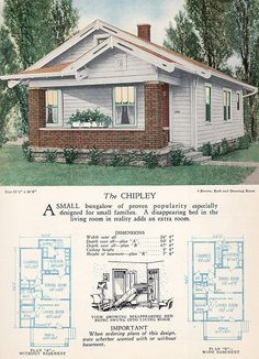 1928 Home Builders Catalog - The Chipley by American Vintage Home, via Flickr