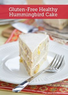 Check out this Gluten-Free Healthy Hummingbird Cake that is  so creamy and packed with the perfect crunch. You are sure to love this recipe!