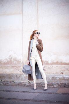 Upgrade your wardrobe to reflect the season. Maria Jernov in Samsøe & Samsøe delta leather leggins.