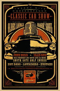 Tweed Mile Classic Car Show Poster