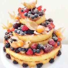 Naked Cake de Frutas Vermelhas – Jantinha de Hoje