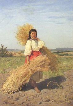 Український художник Костянтин Трутовський - «Дівчина зі снопами».