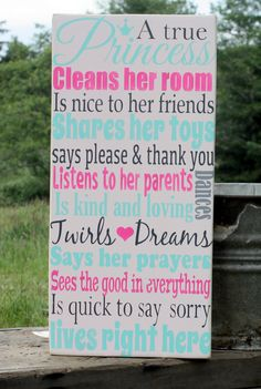 A+True+Princess+Hand+Painted+Sign+Little+door+AmberMooreDesigns,+$39,99