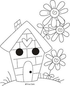 Garden Song 8 - Country Line Art Pattern - Click Image to Close