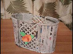 DIY Newspaper Basket |Newspaper craft | Best out of waste - YouTube