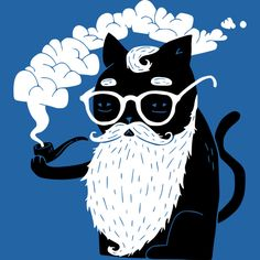 Whiskers And Pipe is a T Shirt designed by obinsun to illustrate your life and is available at Design By Humans